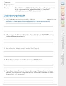 Vertriebstraining, Verkaufstraining, Qualifizierungsbogen